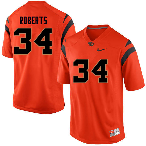 Men #34 Avery Roberts Oregon State Beavers College Football Jerseys Sale-Orange