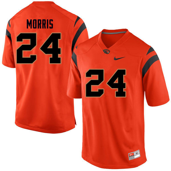 Men #24 David Morris Oregon State Beavers College Football Jerseys Sale-Orange