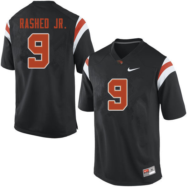 Men #9 Hamilcar Rashed Jr. Oregon State Beavers College Football Jerseys Sale-Black