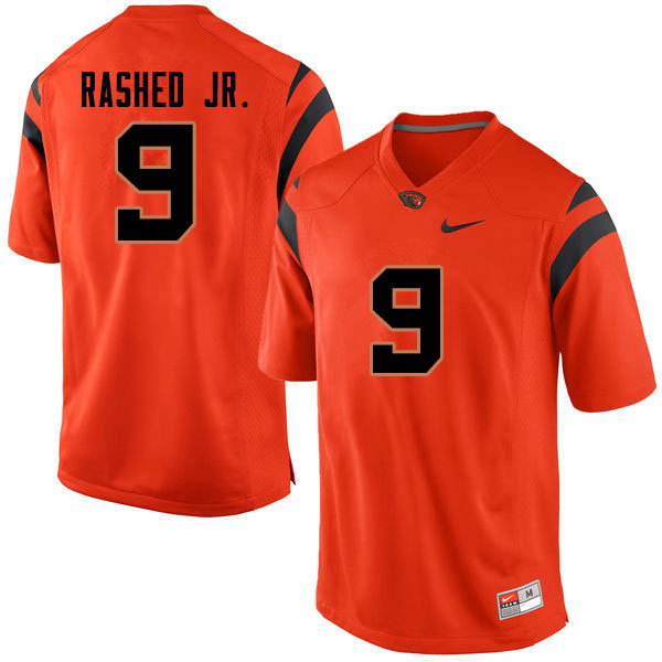 Men #9 Hamilcar Rashed Jr. Oregon State Beavers College Football Jerseys Sale-Orange