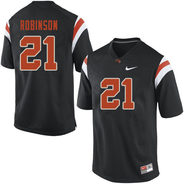 Men #21 Jaden Robinson Oregon State Beavers College Football Jerseys Sale-Black