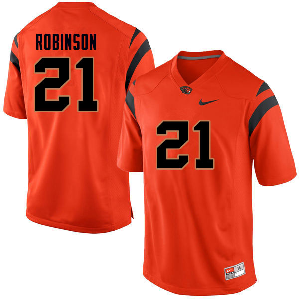 Men #21 Jaden Robinson Oregon State Beavers College Football Jerseys Sale-Orange