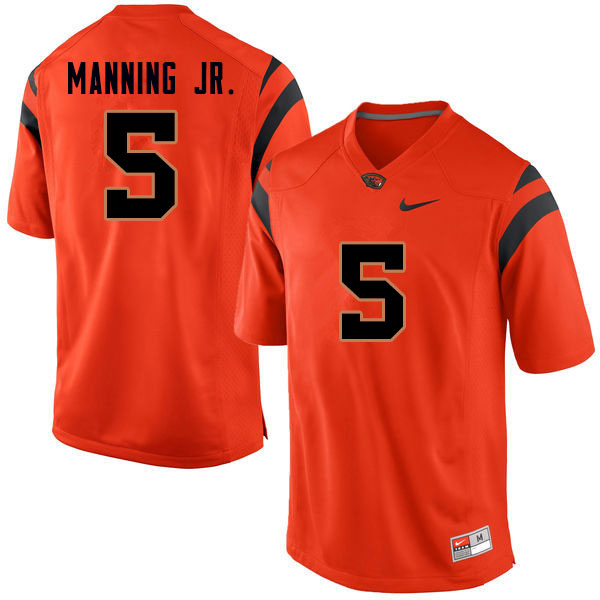 Men #5 Jeffrey Manning Jr. Oregon State Beavers College Football Jerseys Sale-Orange