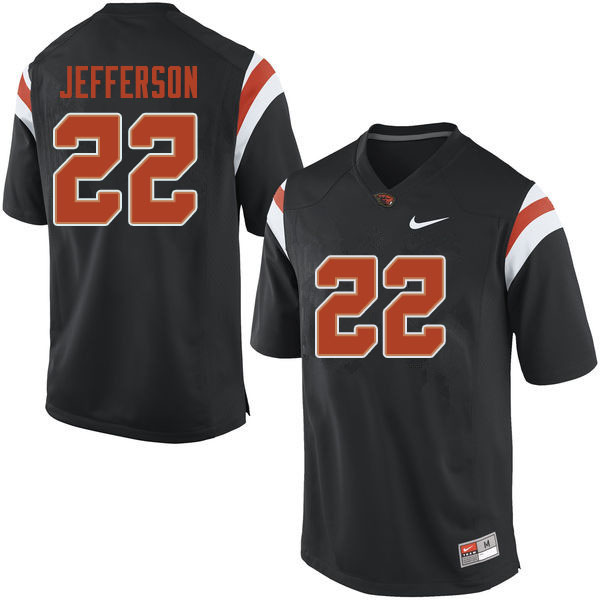Men #22 Jermar Jefferson Oregon State Beavers College Football Jerseys Sale-Black