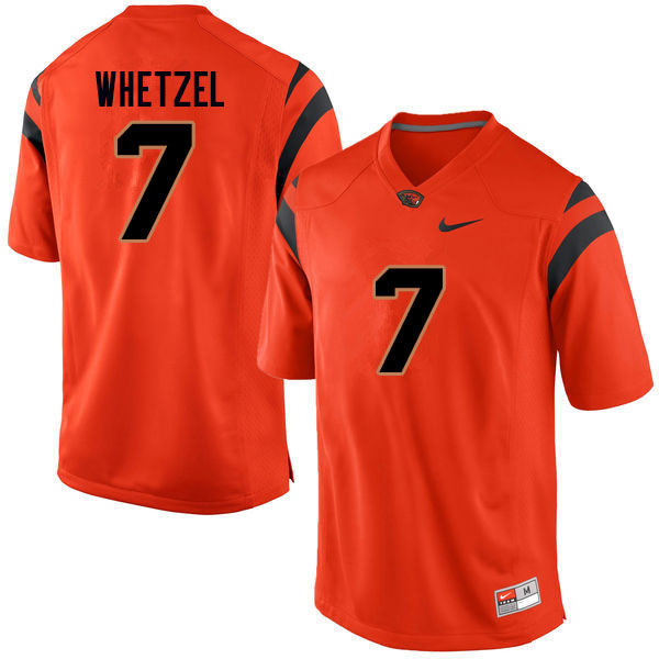 Men #7 Kee Whetzel Oregon State Beavers College Football Jerseys Sale-Orange