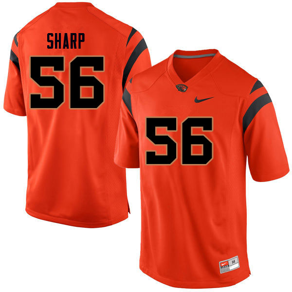 Men #56 Riley Sharp Oregon State Beavers College Football Jerseys Sale-Orange