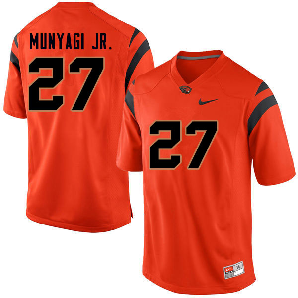 Men #27 Rweha Munyagi Jr. Oregon State Beavers College Football Jerseys Sale-Orange