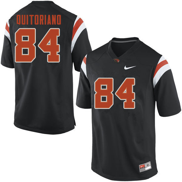 Men #84 Teagan Quitoriano Oregon State Beavers College Football Jerseys Sale-Black
