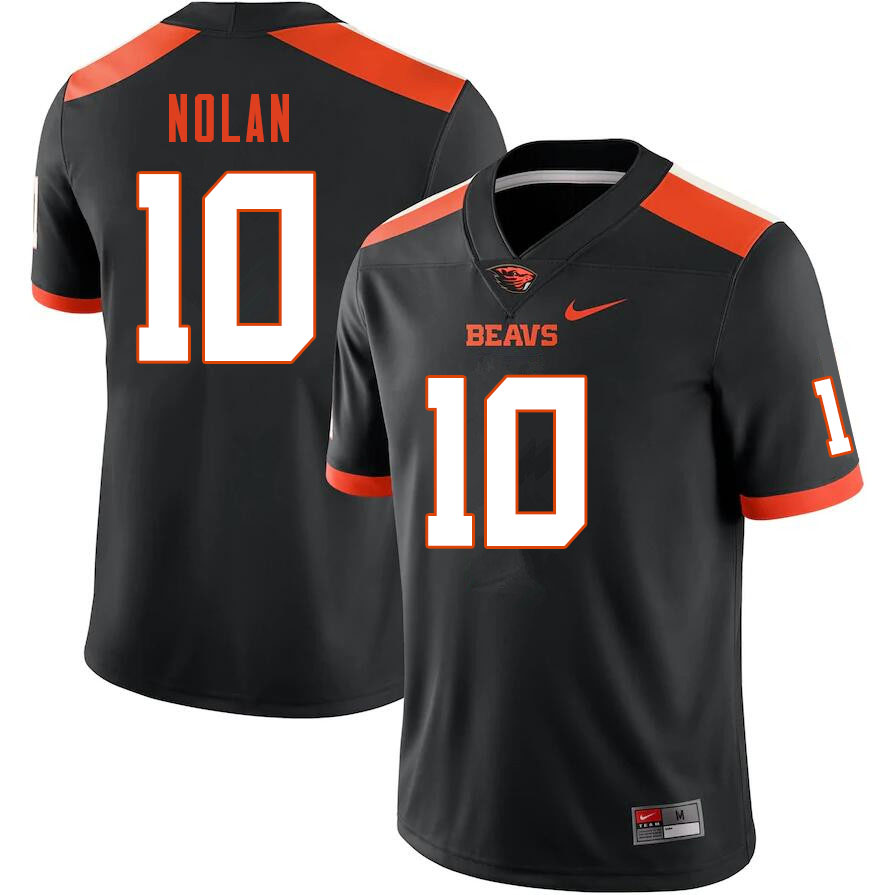 Men #10 Chance Nolan Oregon State Beavers College Football Jerseys Sale-Black