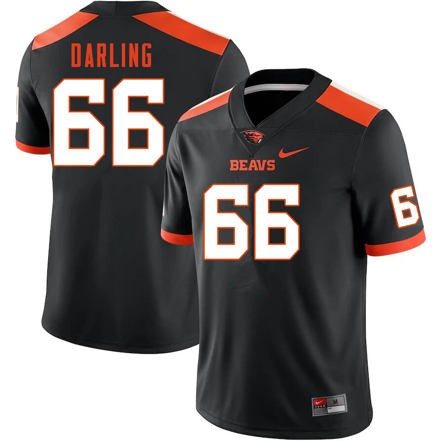 Men #66 Cooper Darling Oregon State Beavers College Football Jerseys Sale-Black