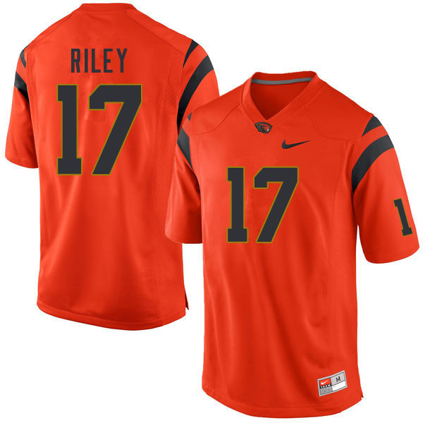 Men #17 Johnathan Riley Oregon State Beavers College Football Jerseys Sale-Orange