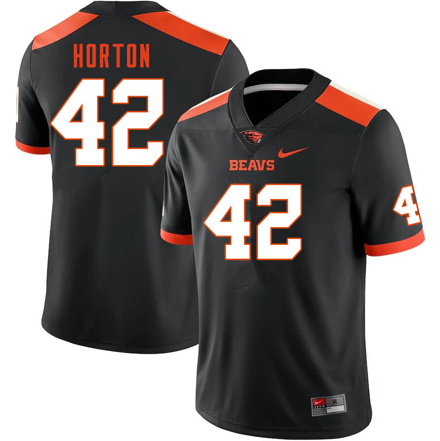 Men #42 Logan Horton Oregon State Beavers College Football Jerseys Sale-Black