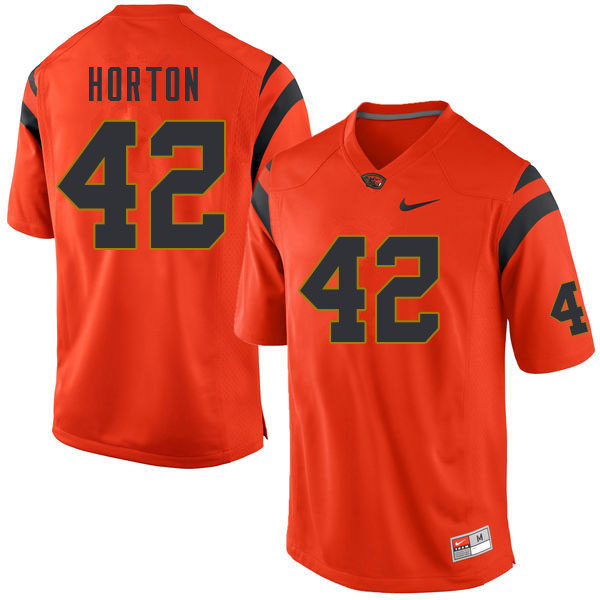 Men #42 Logan Horton Oregon State Beavers College Football Jerseys Sale-Orange