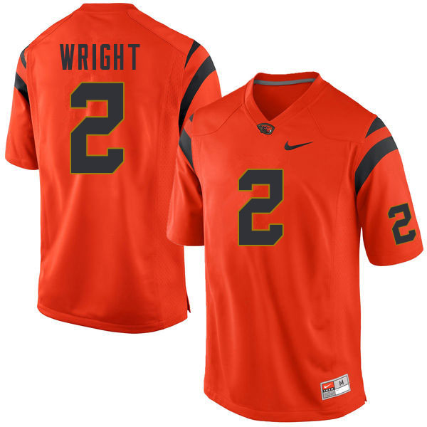Men #2 Nahshon Wright Oregon State Beavers College Football Jerseys Sale-Orange