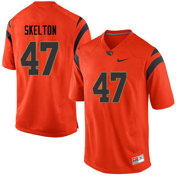 Men Oregon State Beavers #47 Alexander Skelton College Football Jerseys Sale-Orange