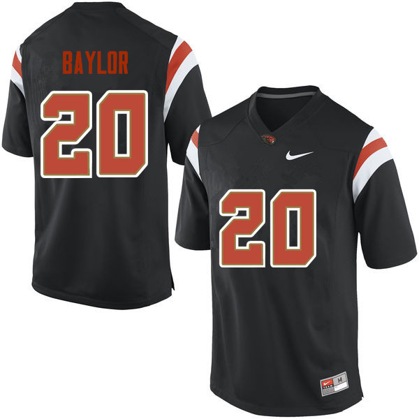 Men Oregon State Beavers #20 Benjamin Baylor College Football Jerseys Sale-Black