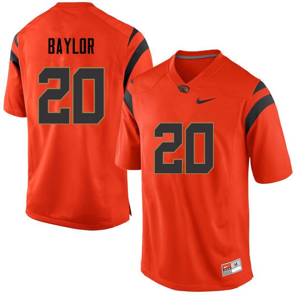 Men Oregon State Beavers #20 Benjamin Baylor College Football Jerseys Sale-Orange