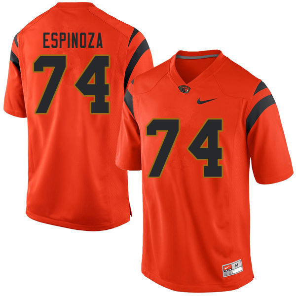 Men #74 Brian Espinoza Oregon State Beavers College Football Jerseys Sale-Orange