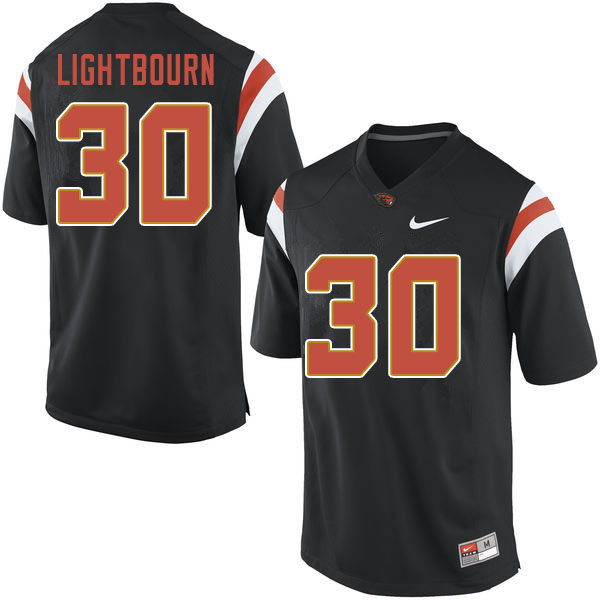 Men #30 Caleb Lightbourn Oregon State Beavers College Football Jerseys Sale-Black