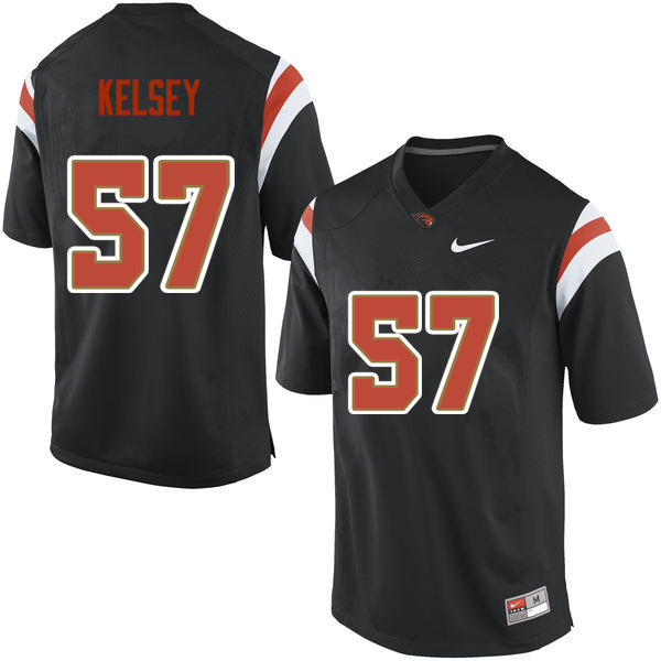 Men Oregon State Beavers #57 Conner Kelsey College Football Jerseys Sale-Black
