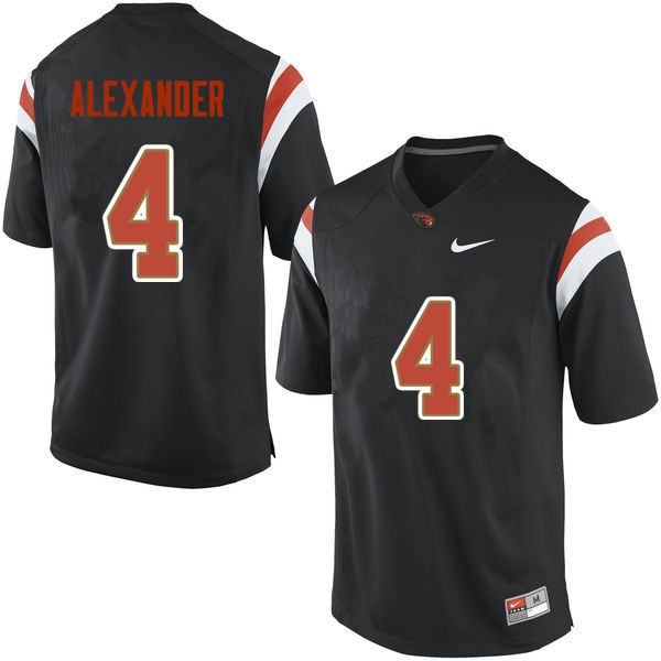 Men Oregon State Beavers #4 D.J. Alexander College Football Jerseys Sale-Black
