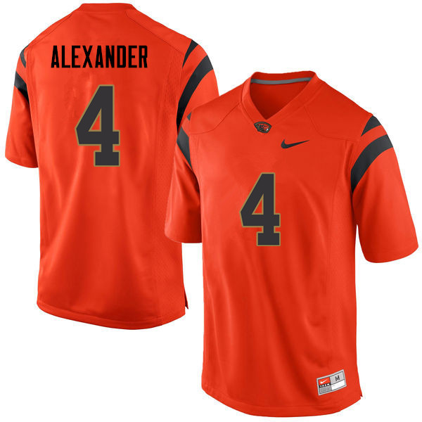 Men Oregon State Beavers #4 D.J. Alexander College Football Jerseys Sale-Orange