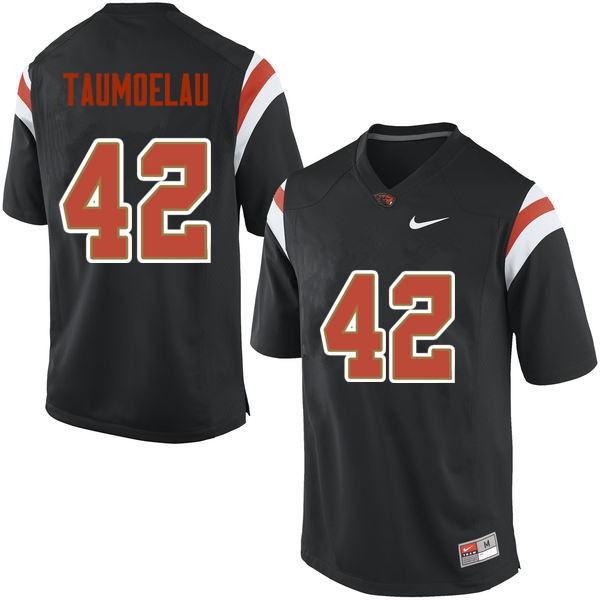 Men Oregon State Beavers #42 Doug Taumoelau College Football Jerseys Sale-Black