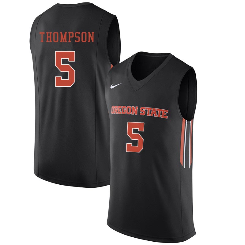 Men Oregon State Beavers #5 Ethan Thompson College Basketball Jerseys Sale-Black