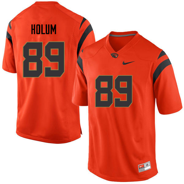 Men Oregon State Beavers #89 Jack Holum College Football Jerseys Sale-Orange