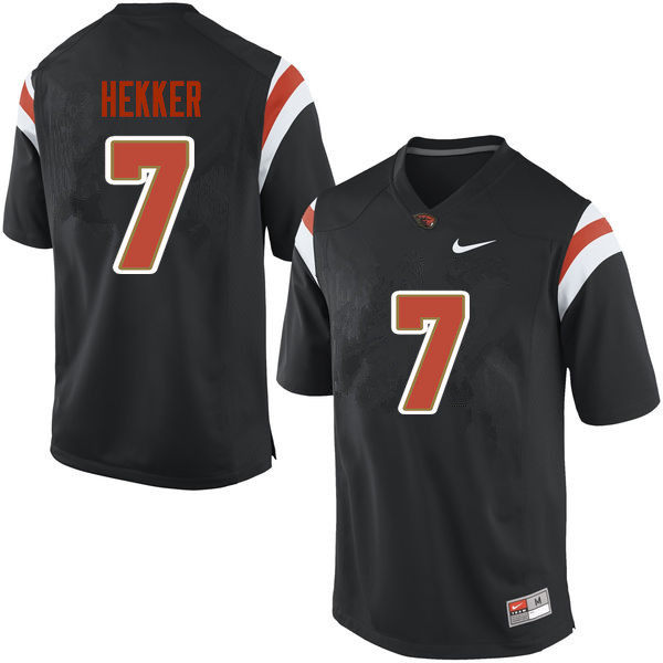 Men Oregon State Beavers #7 Johnny Hekker College Football Jerseys Sale-Black