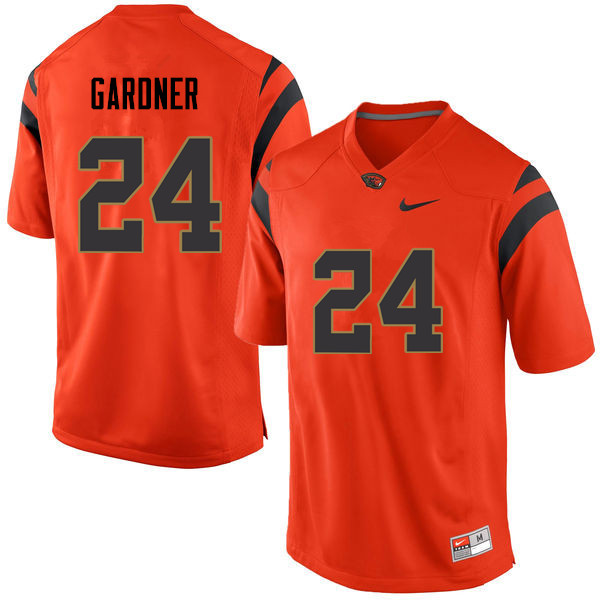 Men Oregon State Beavers #24 Justin Gardner College Football Jerseys Sale-Orange
