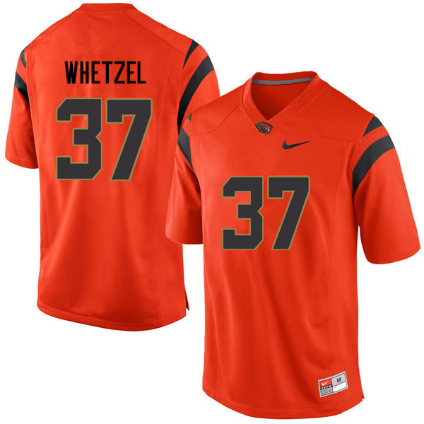 Men Oregon State Beavers #37 Kee Whetzel College Football Jerseys Sale-Orange