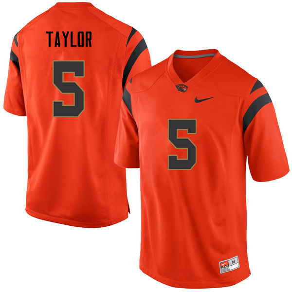 Men Oregon State Beavers #5 Kolby Taylor College Football Jerseys Sale-Orange