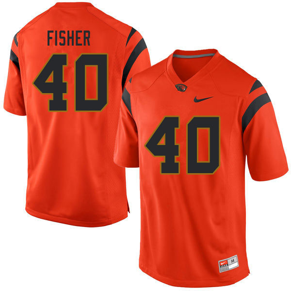 Men #40 Kyrei Fisher Oregon State Beavers College Football Jerseys Sale-Orange