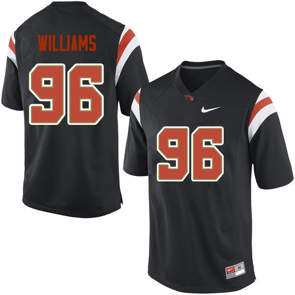 Men Oregon State Beavers #96 LaMone Williams College Football Jerseys Sale-Black