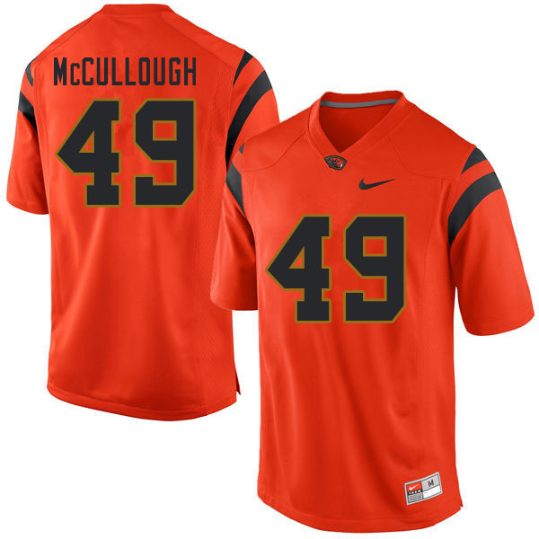 Men #49 Mitchell McCullough Oregon State Beavers College Football Jerseys Sale-Orange