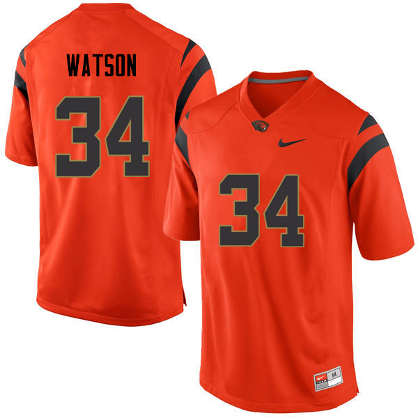 Men Oregon State Beavers #34 Moku Watson College Football Jerseys Sale-Orange