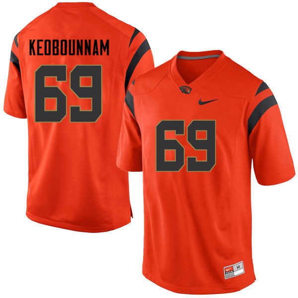 Men Oregon State Beavers #69 Nous Keobounnam College Football Jerseys Sale-Orange