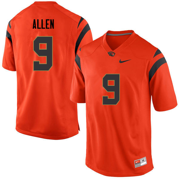 Men Oregon State Beavers #9 Quantino Allen College Football Jerseys Sale-Orange