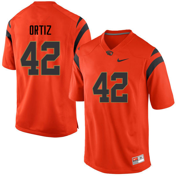 Men Oregon State Beavers #42 Ricky Ortiz College Football Jerseys Sale-Orange