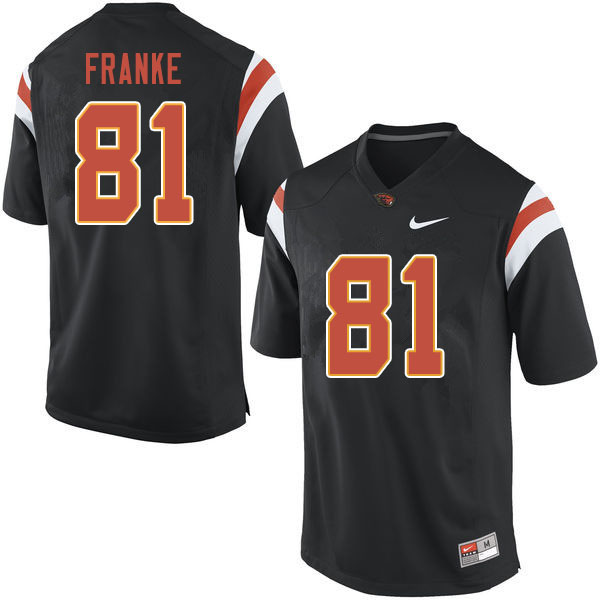 Men #81 Ryan Franke Oregon State Beavers College Football Jerseys Sale-Black