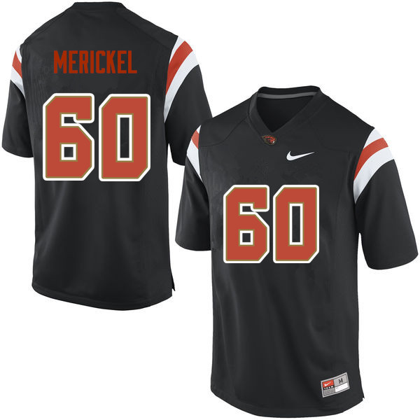 Men Oregon State Beavers #60 Thomas Merickel College Football Jerseys Sale-Black