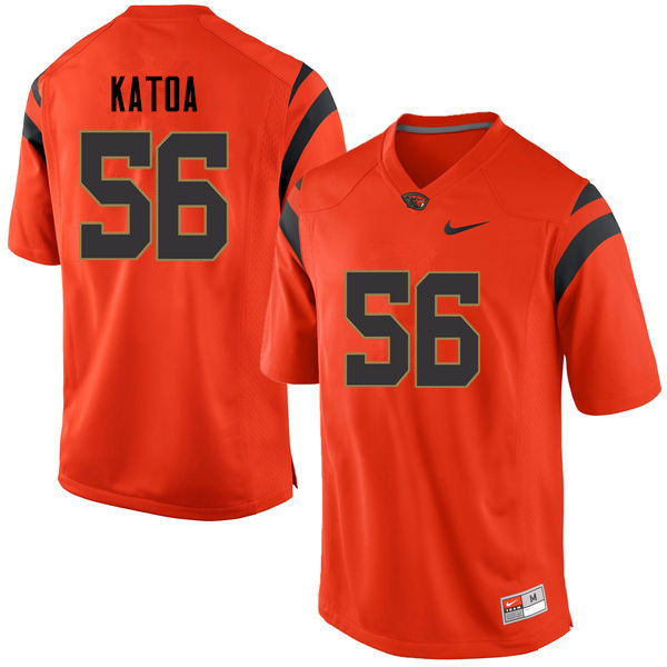 Men Oregon State Beavers #56 Thor Katoa College Football Jerseys Sale-Orange