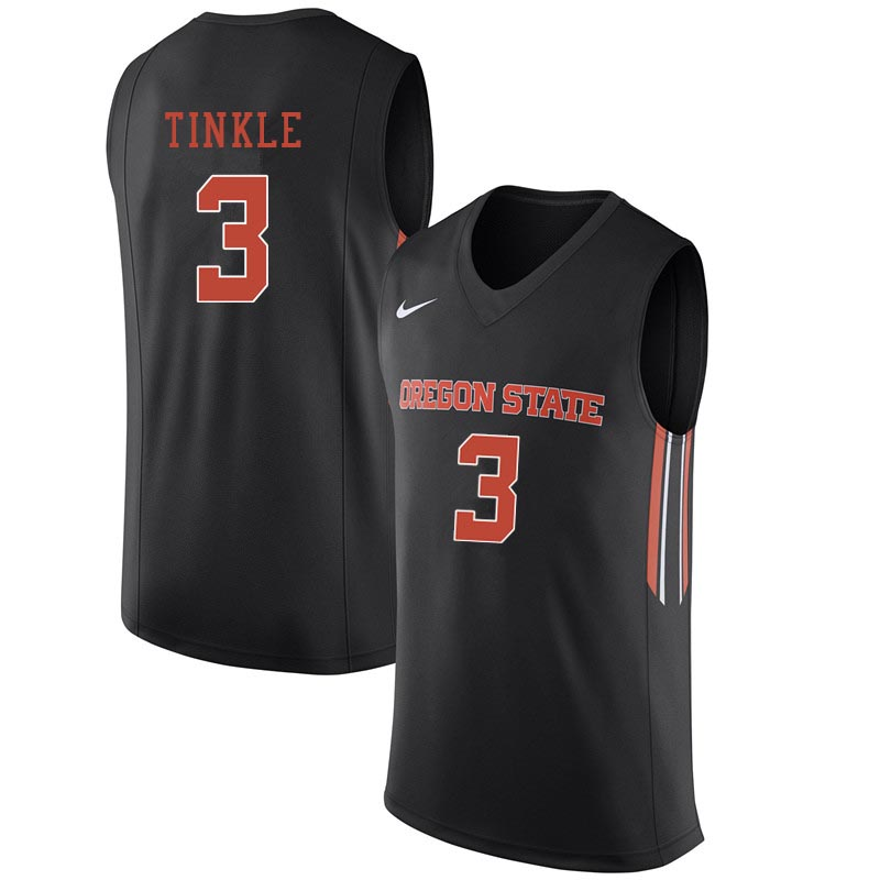 Men Oregon State Beavers #3 Tres Tinkle College Basketball Jerseys Sale-Black