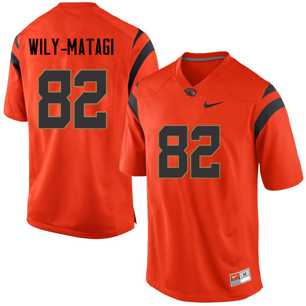 Men Oregon State Beavers #82 Tuli Wily-Matagi College Football Jerseys Sale-Orange