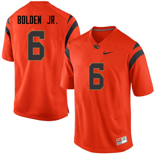 Men Oregon State Beavers #6 Victor Bolden Jr. College Football Jerseys Sale-Orange