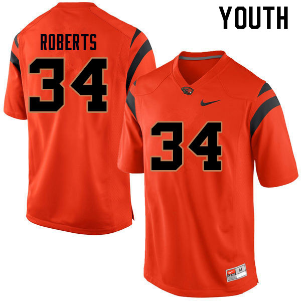 Youth #34 Avery Roberts Oregon State Beavers College Football Jerseys Sale-Orange