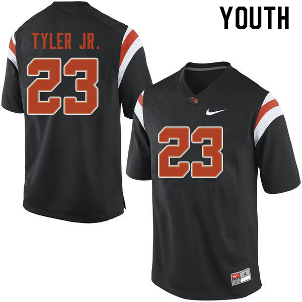 Youth #23 Calvin Tyler Jr. Oregon State Beavers College Football Jerseys Sale-Black