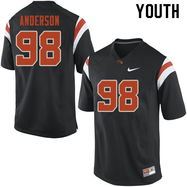 Youth #98 Cody Anderson Oregon State Beavers College Football Jerseys Sale-Black
