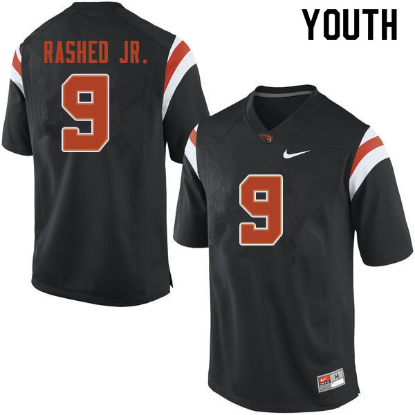 Youth #9 Hamilcar Rashed Jr. Oregon State Beavers College Football Jerseys Sale-Black